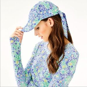 Lilly Pulitzer in a knot hat